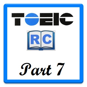 Luyện thi TOEIC Part 7